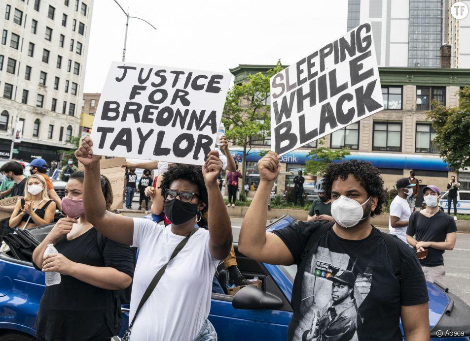 Manifestation à la mémoire de Breonna Taylor à New York le 5 juin 2020