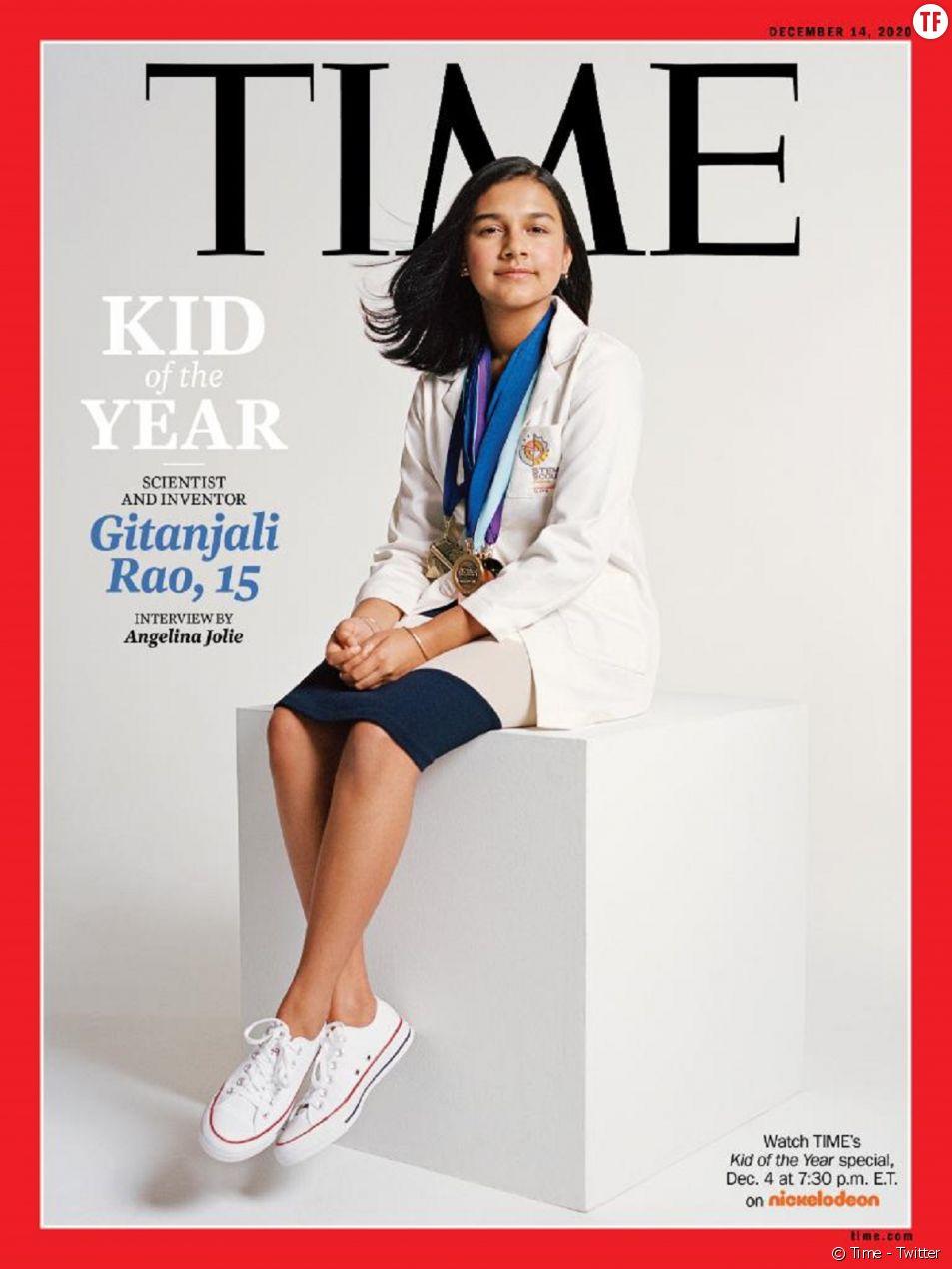 """La jeune scientifique Gitanjali Rao nommée """"Enfant de l'année"""" par le Time magazine."""