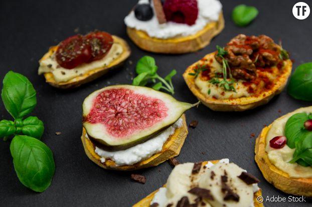 Toasts de patates douces vegan