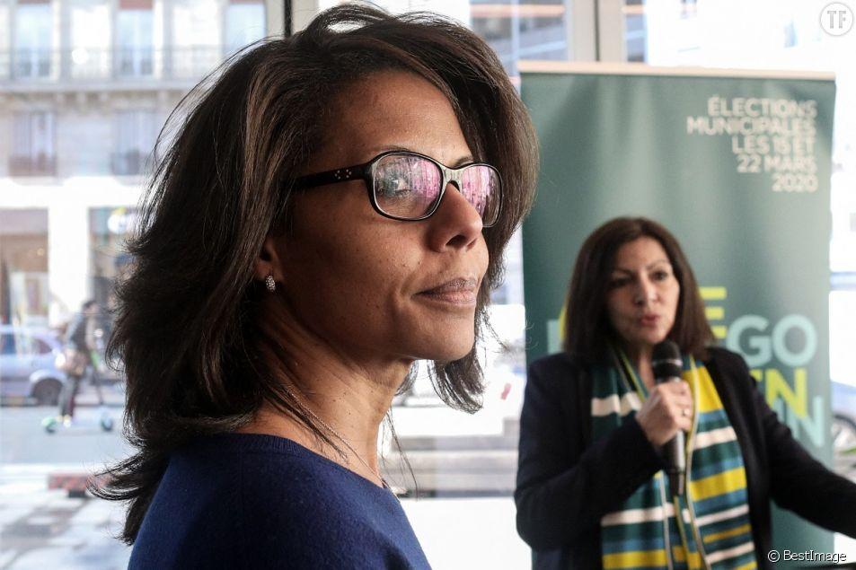 Anne Hidalgo et Audrey Pulvar au café Fluctuat Nec Mergitur, le 25 février 2020.