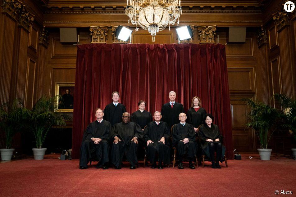Les juges de la Cour suprême à Washington, DC, États-Unis, le 23 avril 2021.