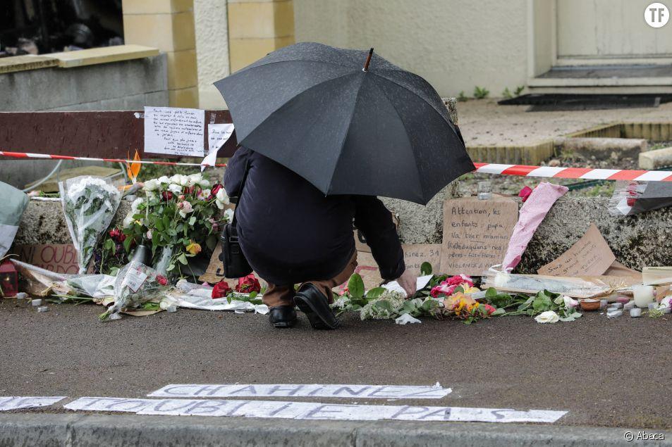 A Mérignac, des fleurs déposées devant le domicile de Chahinez Daoud.