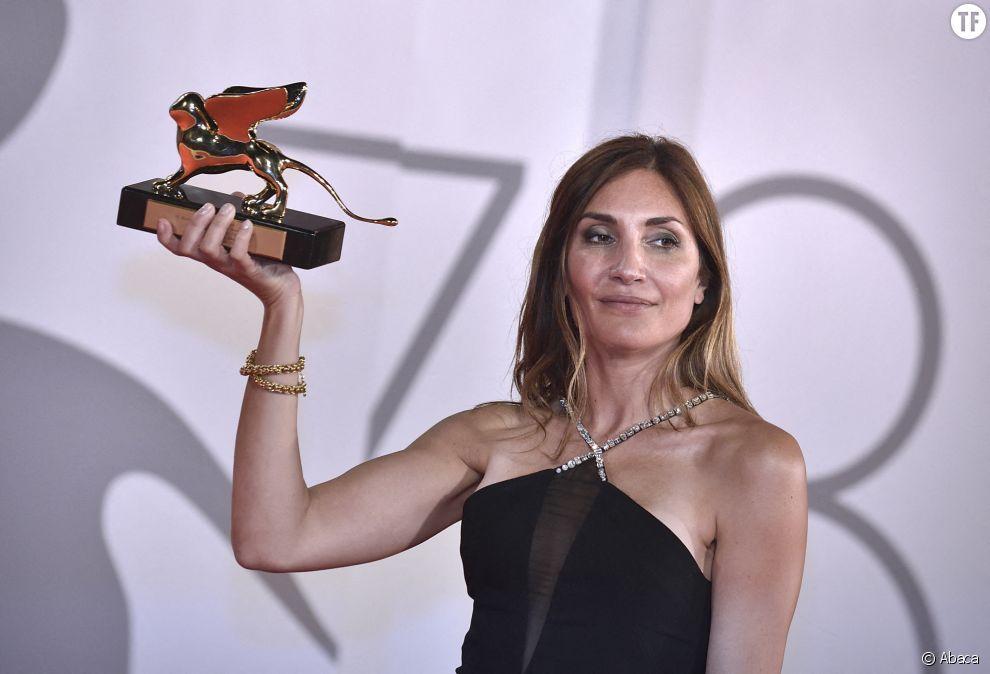 La réalisatrice Audrey Diwan à la Mostra de Venise 2021