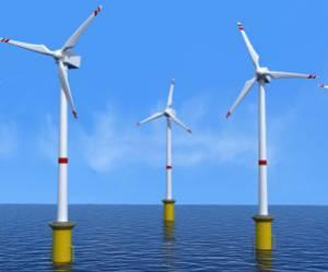 Lancement de la construction des éoliennes Offshore