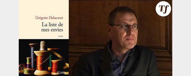 Deuxième roman : Grégoire Delacourt, « La liste de mes envies »