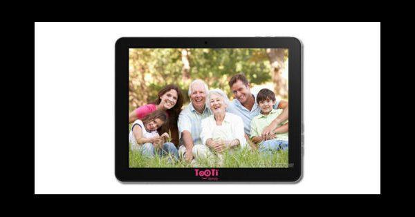 tooti family une tablette tactile pour les s niors. Black Bedroom Furniture Sets. Home Design Ideas