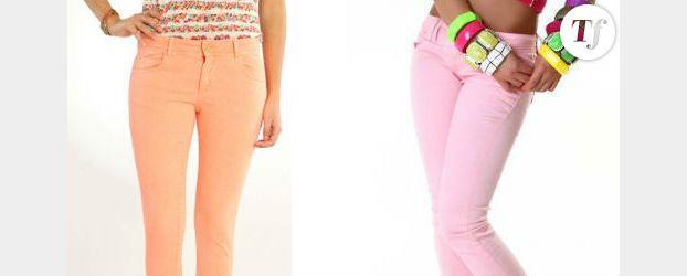 Tendance été 2012 : osez le jean coloré !