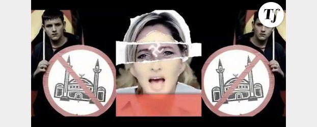 Madonna n'enlèvera pas la croix gammée du front de Marine Le Pen