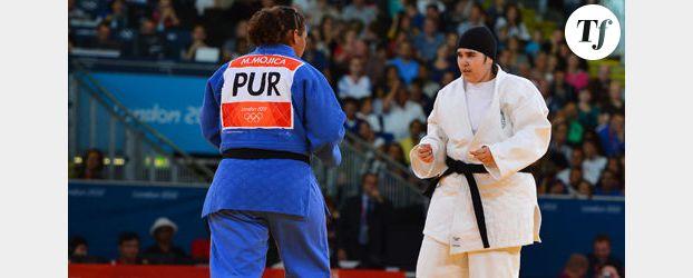 JO de Londres 2012 : le combat éclair de la judoka saoudienne Shaherkani