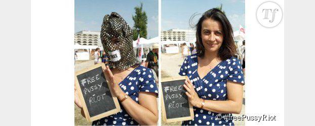 Pussy Riot : Cécile Duflot en cagoule pour soutenir les punkettes - Photos