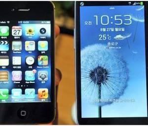iPhone 5 contre Samsung Galaxy S3 en publicité