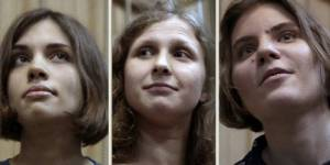 Procès en appel des Pussy Riot : une des trois accusées libérée