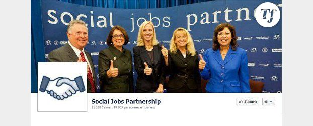 Facebook lance The social jobs partnership, son site d'offres d'emploi