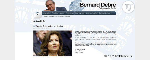 Valérie Trierweiler attaquée par Bernard Debré sur sa position pro-mariage gay