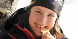 Coline Mattel première médaillée de saut à ski