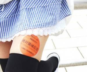 Japon : les cuisses des jeunes femmes, nouveaux supports publicitaires