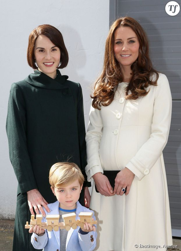Kate Middleton et Michelle Dockery (Lady Mary Crawley)