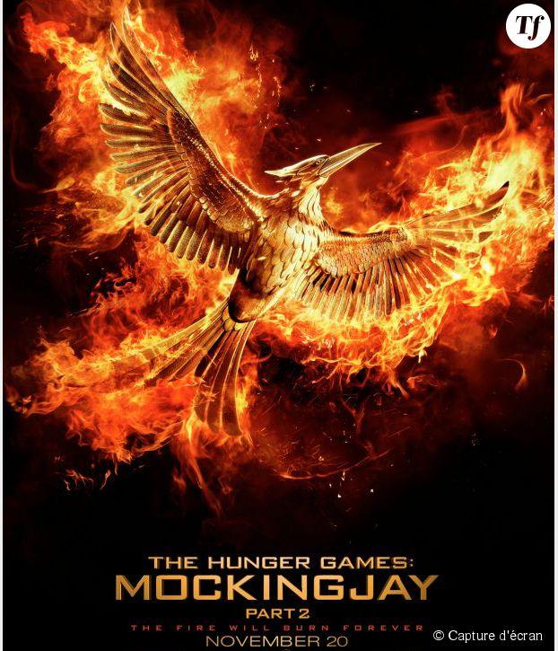 """L'affiche du dernier volet de la saga """"Hunger Games"""", dans les salles au mois de novembre."""