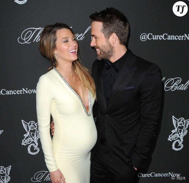 Blake Lively et son mari Ryan Reynolds attendant la venue de leur petite James.