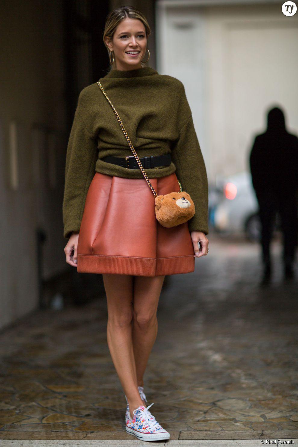Tendance mode jupe cuir