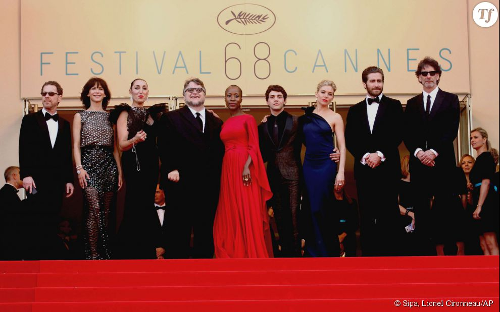 Le jury du Festival de Cannes 2015 : Ethan Coen, Sophie Marceau, Rossy de Palma, Guillermo Del Toro, Rokia Traore, Xavier Dolan, Sienna Miller, Jake Gyllenhaal et Joel Coen