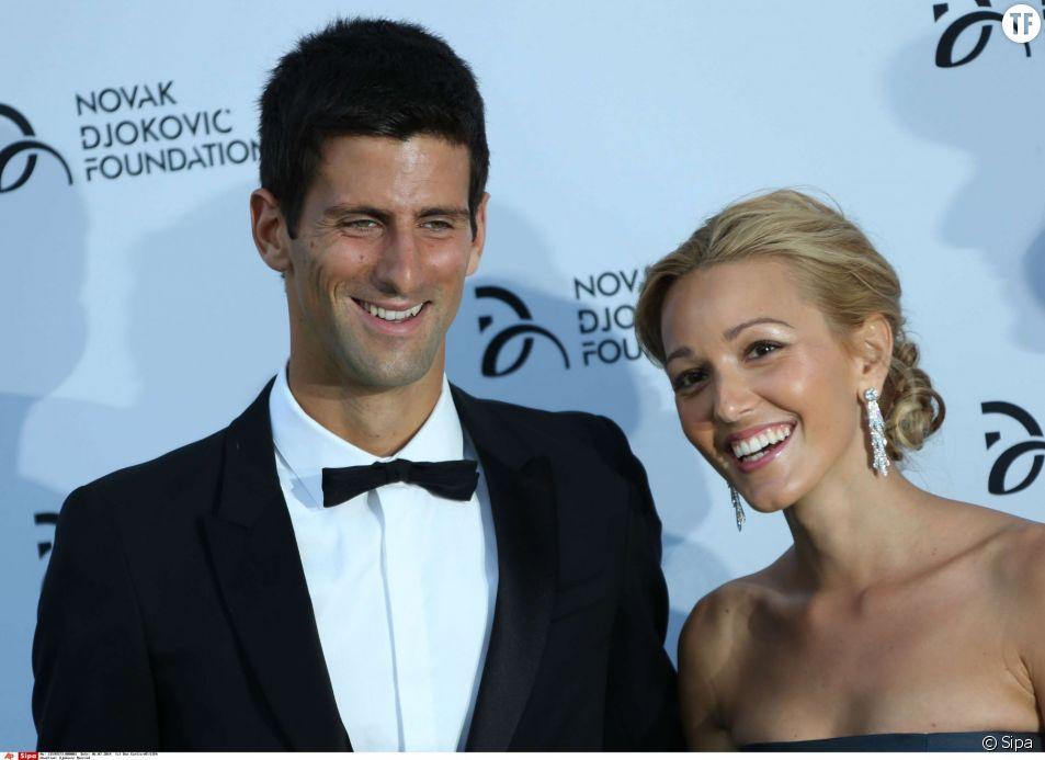 Novak Djokovic en compagnie de son épouse, la serbe Jelena Ristic.