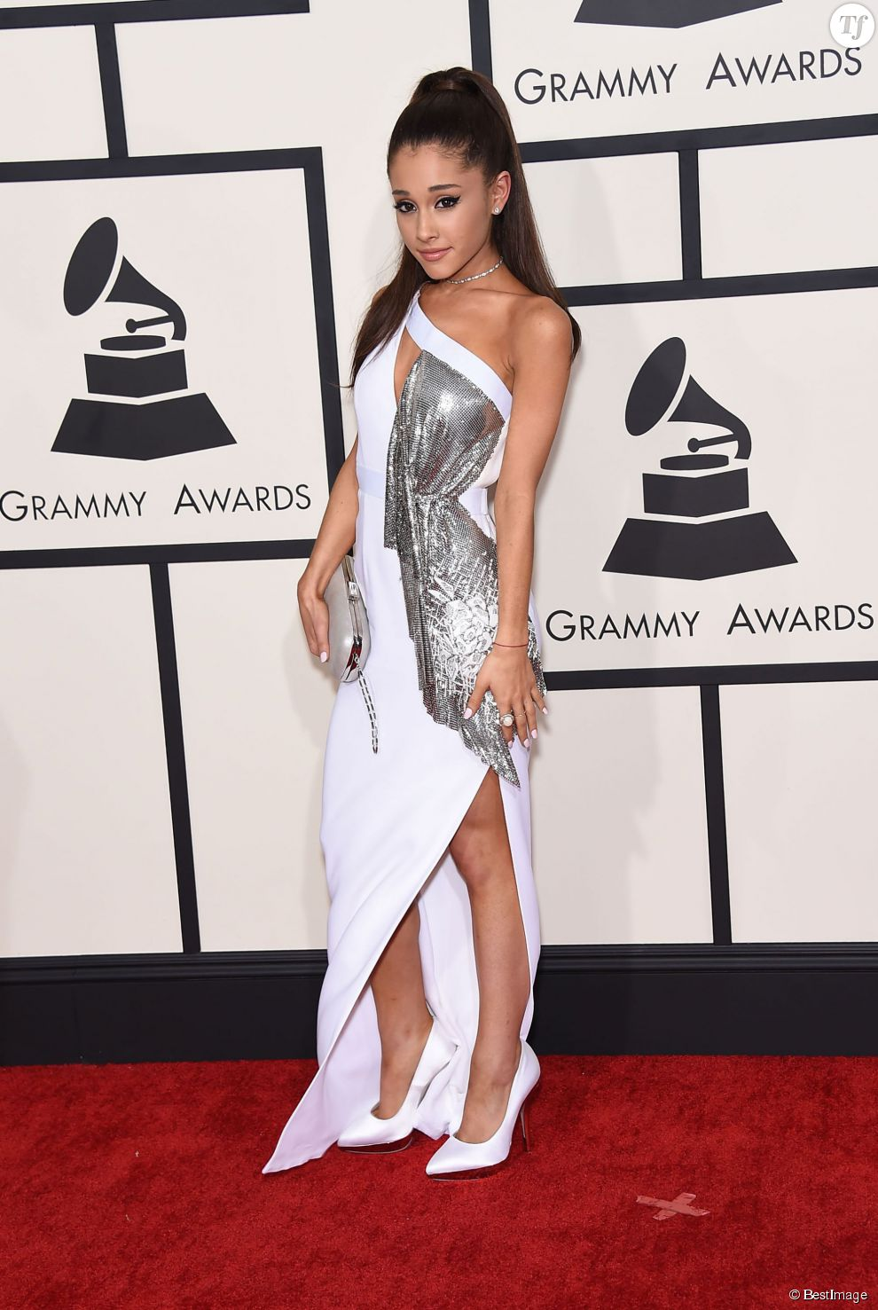 Ariana Grande - 57ème soirée annuelle des Grammy Awards au Staples Center à Los Angeles, le 8 février 2015.