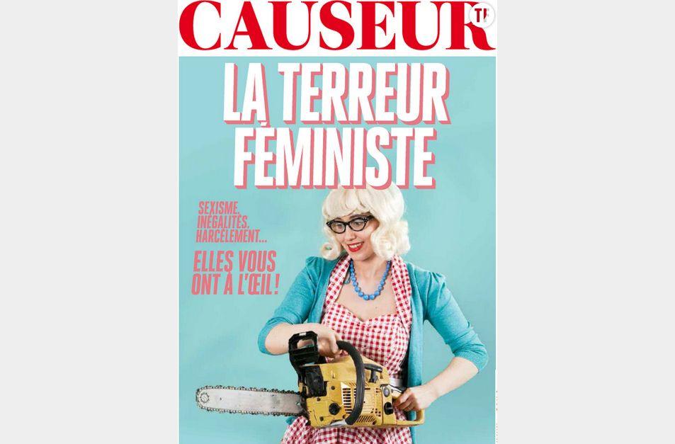 """Le numéro de l'été du magazine Causeur sur la """"terreur féministe""""."""