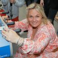 Valérie Damidot lors du t ournoi de babyfoot à l'occasion de la 7e coupe du monde de football féminin au village by CA à Paris le 08 juin 2015