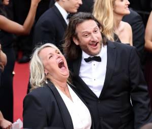 """Valérie Damidot et son compagnon Régis - Montée des marches du film """"Mad Max : Fury Road"""" lors du 68 ème Festival International du Film de Cannes, à Cannes le 14 mai 2015."""