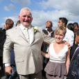 Charlène, la fille de Thierry Olive lors de son mariage avec Annie Derain le 14 septembre 2012