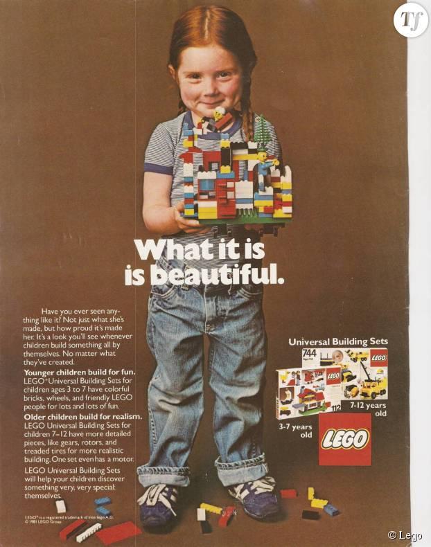 """Publicité """"mixte"""" Lego datant de 1981"""
