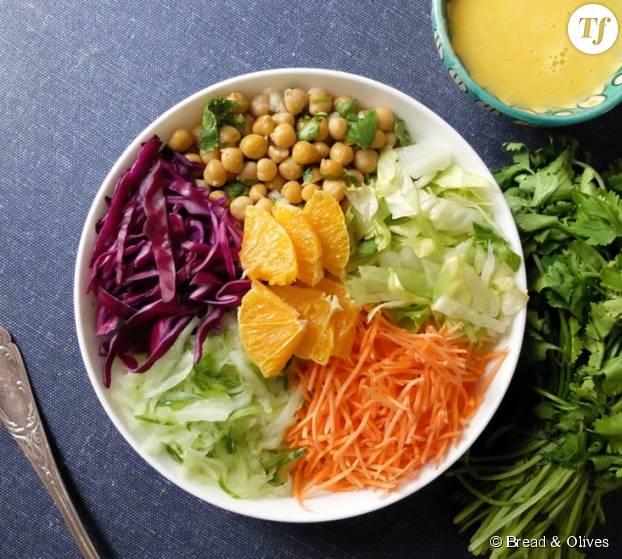 Une jolie salade marocaine pour voyager et se rafraîchir