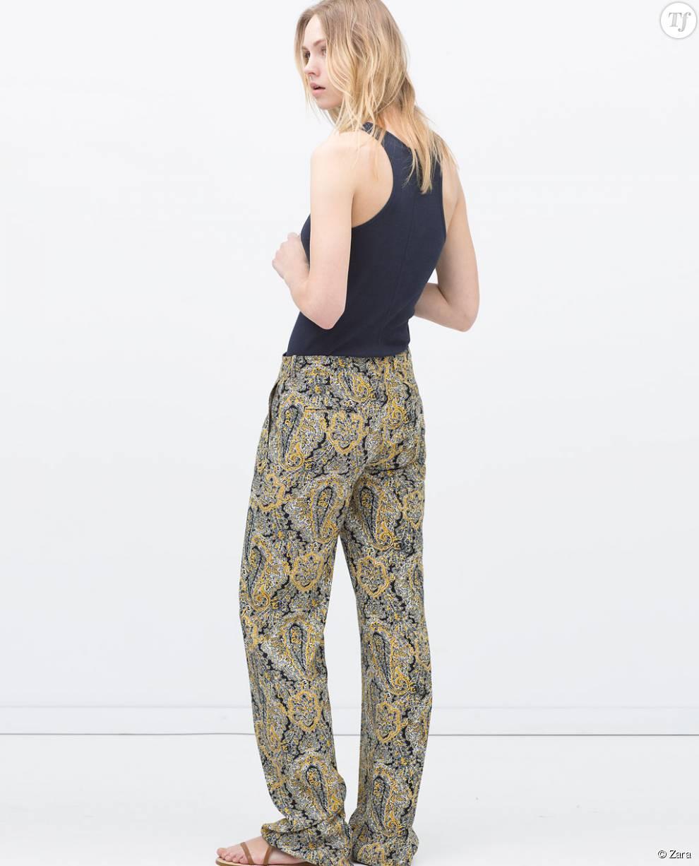 pantalon carotte femme zara pantalon patte dulphant beige femme zara taille m with pantalon. Black Bedroom Furniture Sets. Home Design Ideas