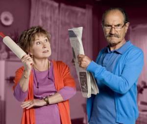 """Marion Game forme un couple hilarant à l'écran avec Gérard Hernandez, dans """"Scènes de ménage"""" sur M6."""