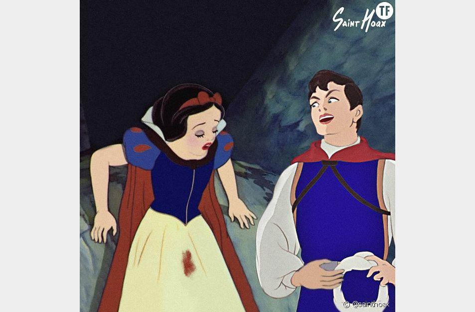 Blanche-Neige et son petit accident