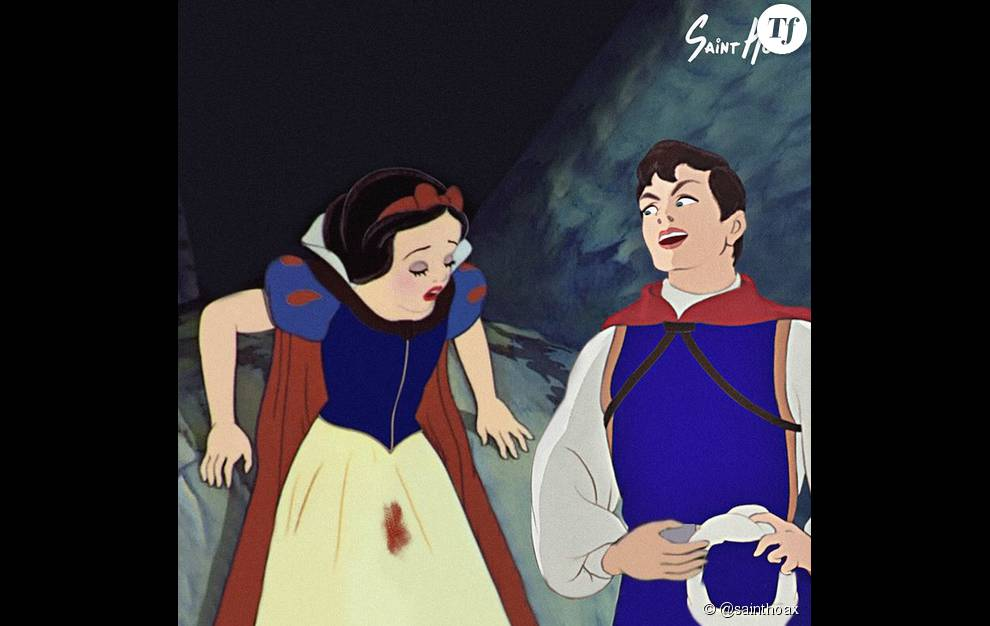 Blanche neige et son petit accident for On se lave blanche neige