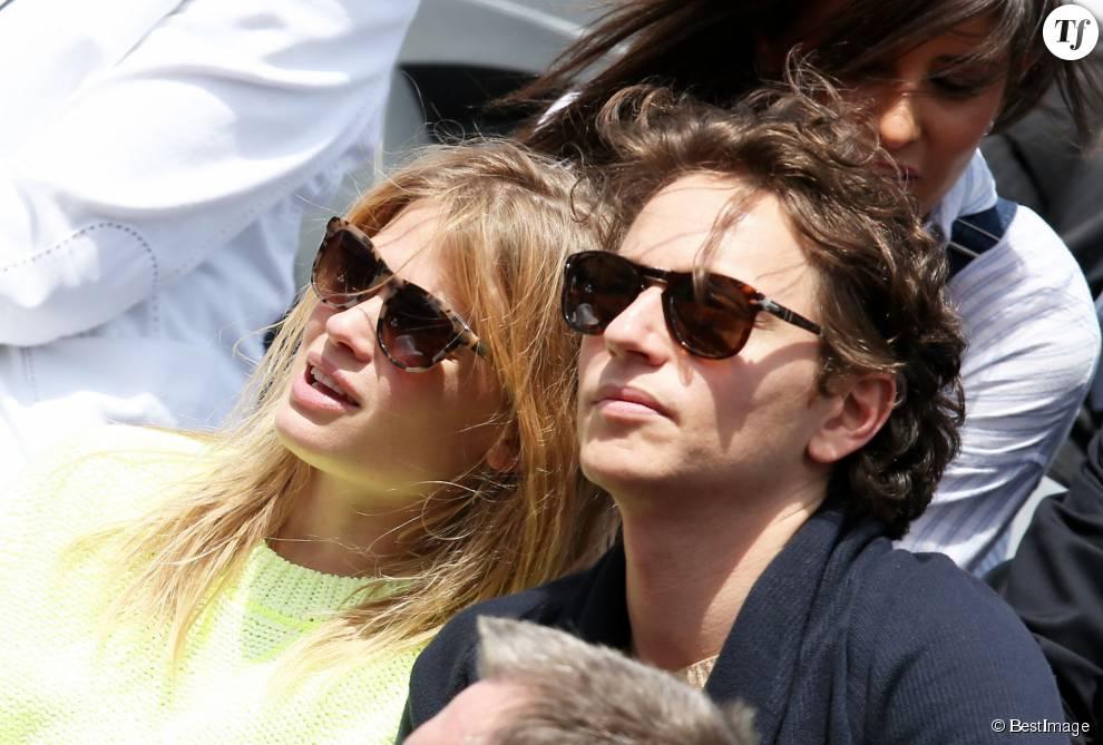 Mélanie Thierry et Raphaël à Roland Garros en juin 2015.