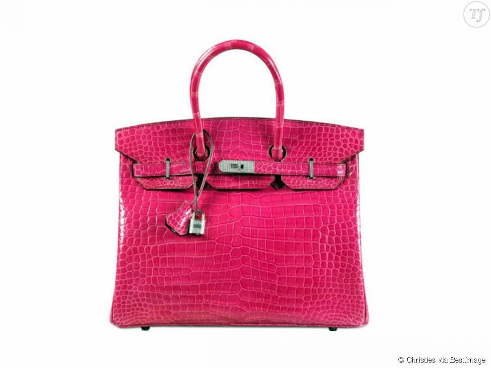 Le sac le plus cher du monde est un Birkin en crocodile rose !