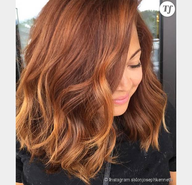 Couleur d'automne coupe de cheveux
