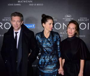 """Vincent Cassel, Maïwenn Le Besco et Emmanuelle Bercot - Avant-première du film """"Mon Roi"""" au cinéma Gaumont Capucines à Paris, le 12 octobre 2015."""