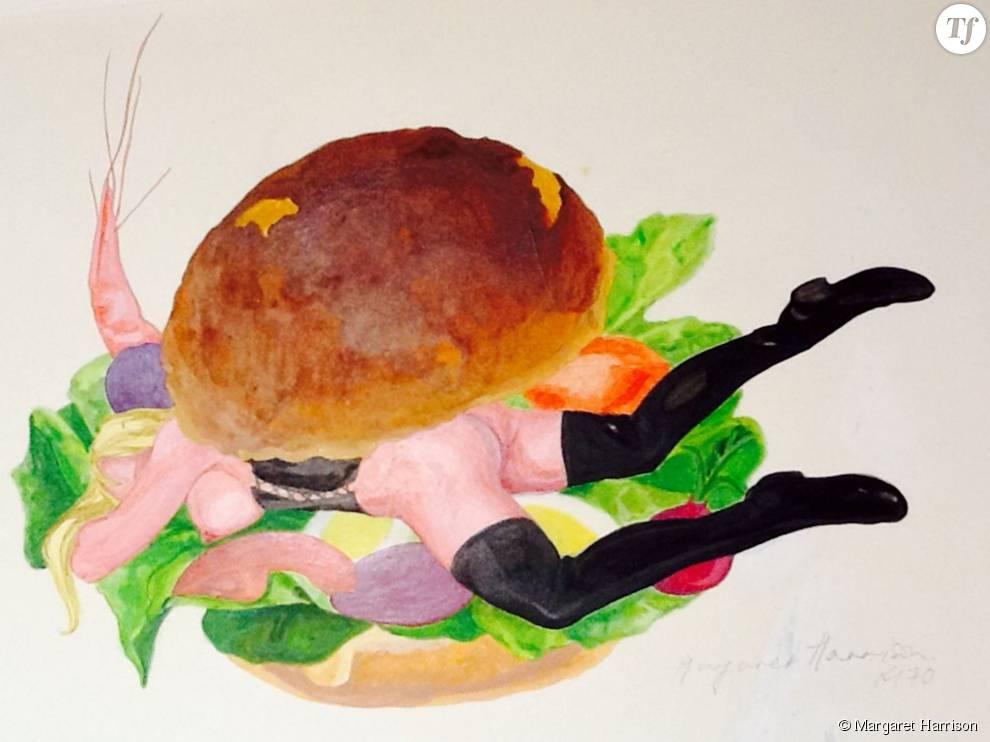 Margaret Harrison, Good Enough to Eat 4, 1970