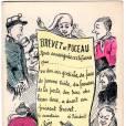 """Ce """"Brevet de puceau"""" est tiré d'une série sur les types sexuels, réalisée à la Belle Époque par Georges Mouton"""
