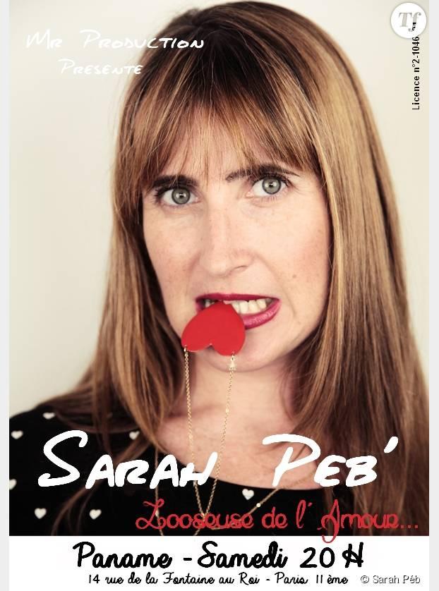 """On court voir Sarah Pébereau sur scène dans, Sarah Péb' """"Looseuse de l'amour"""" au Paname Art Café (14 rue de la Fontaine au roi, Paris 11, République)."""