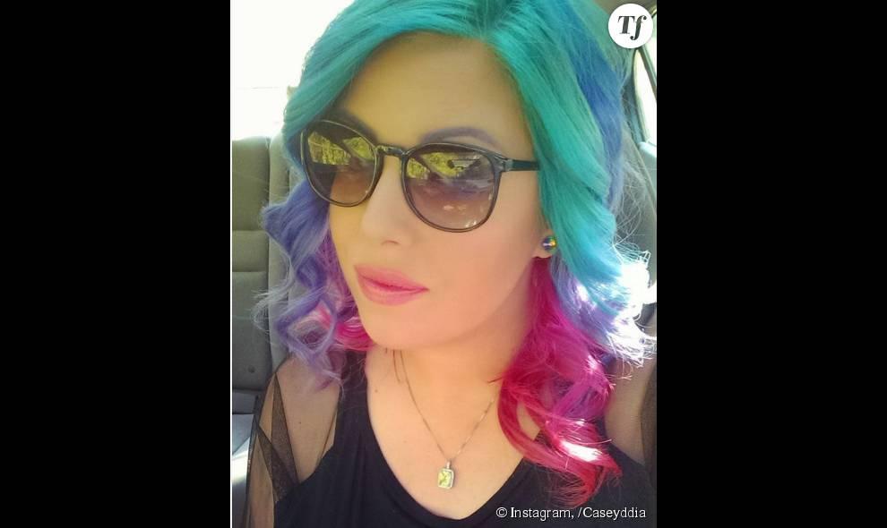 Sur Instagram, la coloration arc-en-ciel est très populaire