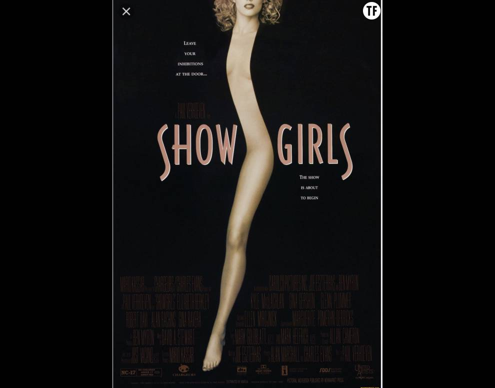 L'affiche du film Showgirls