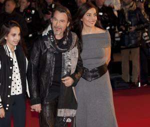 Florent Pagny, sa femme Azucena et leur fille Aël en 2013
