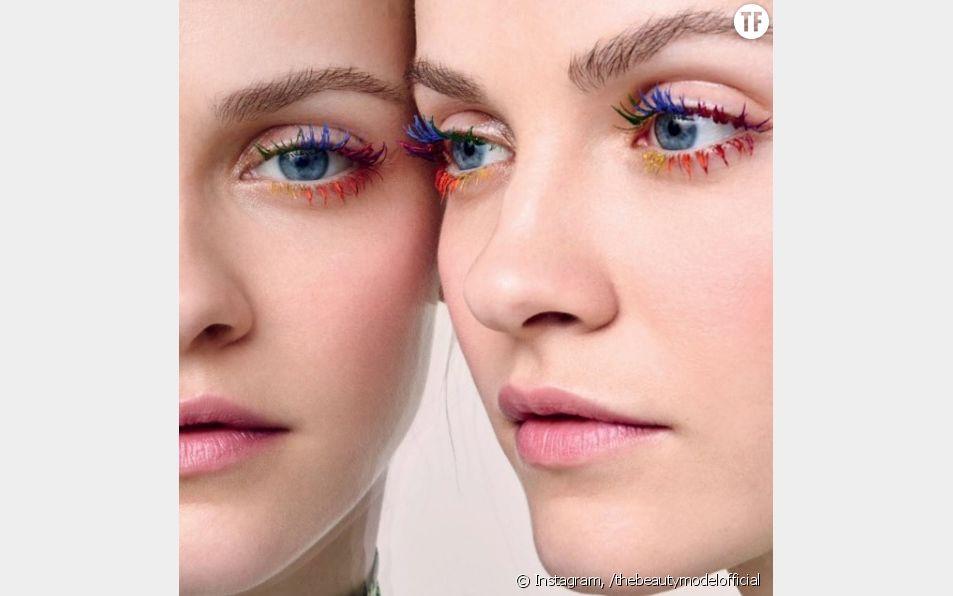 Les cils arc-en-ciel : la nouvelle tendance beauté qui affole Instagram