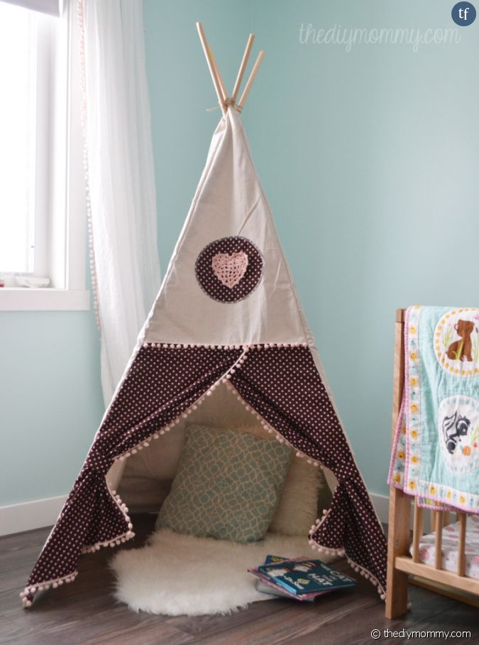 diy pour fabriquer un tipi pour vos enfants. Black Bedroom Furniture Sets. Home Design Ideas