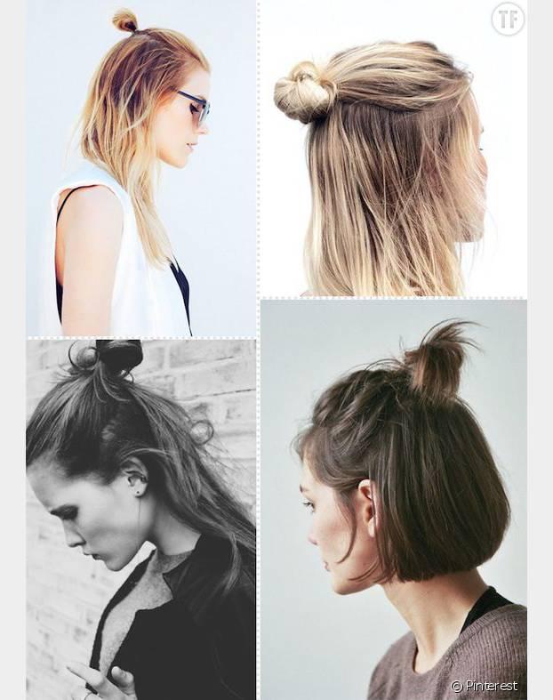 tendance coiffure : le demi-chignon (ou half bun)